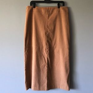 Cato Camel Faux Suede Skirt Size 12